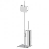 Стойка с 2-мя аксессуарами для туалета 72 см (хром)