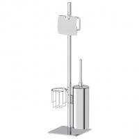 Стойка с 3-мя аксессуарами для туалета 72 см (хром)