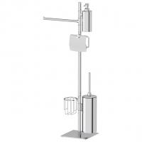 Стойка с 5-ю аксессуарами для туалета с биде 86 см (хром)