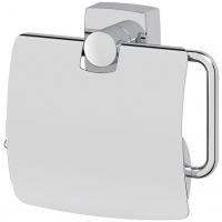 Держатель туалетной бумаги с крышкой (хром)