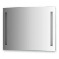 Зеркало со встроенными светильниками (90х70 см, хром)