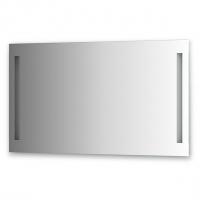 Зеркало со встроенными светильниками (120х70 см, хром)