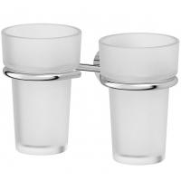 Держатель с 2-мя стаканами (матовый хрусталь; хром)