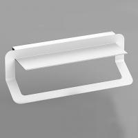 Полотенцедержатель подвесной 40 см (белый/черный)