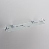 Полка стеклянная с фигурным ограничителем