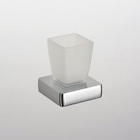Стакан стеклянный настольный квадратный