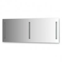 Зеркало со встроенными светильниками (140х55 см)