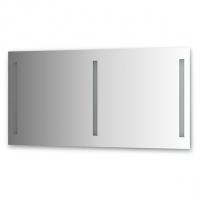 Зеркало со встроенными светильниками (140х70 см, хром)