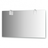 Зеркало со светильниками, хром (130х75 см)