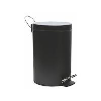 Ведро для мусора с педалью черное