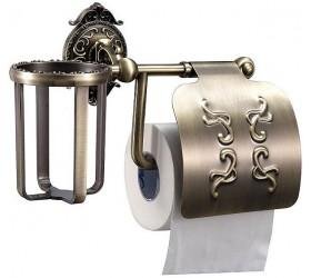Держатель освежителя воздуха и туалетной бумаги с крышкой (тиснение)
