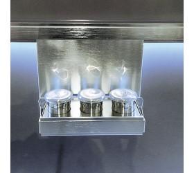 Полка для специй с 3-мя банками на кронштейне 250х110х184 мм, 3 банки