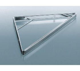 Полка треугольная,  стекло, 215x215x15 мм