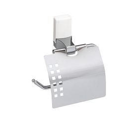 Держатель туалетной бумаги, с крышкой