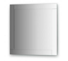Зеркало с зеркальным обрамлением, хром  (60х60 см)