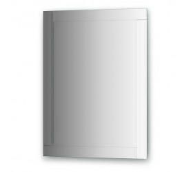Зеркало с зеркальным обрамлением, хром  (60х80 см)