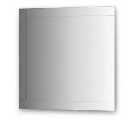 Зеркало с зеркальным обрамлением, хром  (70х70 см)