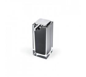 Дозатор для жидкого мыла (Серебро/Черный)