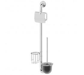Штанга комбинированная для туалета (хром)