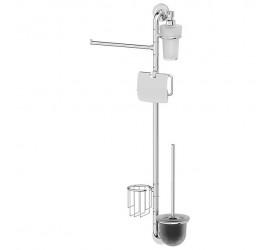 Штанга комбинированная для туалета с биде (хром)