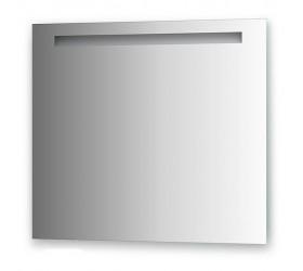 Зеркало со встроенным светильником (80х70 см, хром)