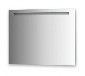 Зеркало со встроенным светильником (90х70 см, хром)