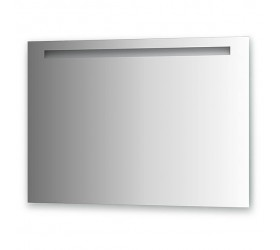 Зеркало со встроенным светильником (100х70 см, хром)