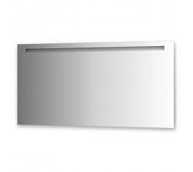 Зеркало со встроенным светильником (140х70 см, хром)
