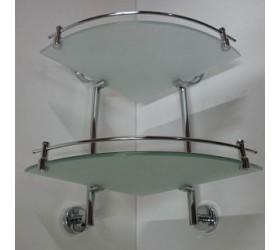 Полка стекло угловая с ограничителем 2-эт. (2243-2)