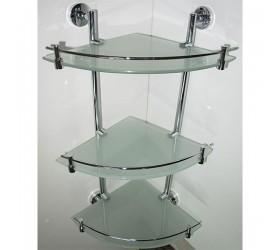 Полка стекло угловая с ограничителем 3-эт.(2243-3)