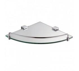 Полка стеклянная с ограничителем угловая