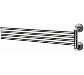 Держатель полотенца поворотный четверной 40 см
