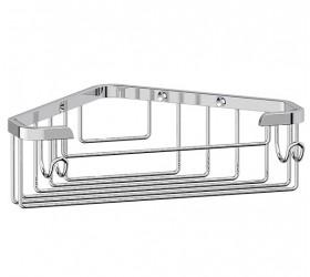 Полочка-решетка угловая 18 см (хром)