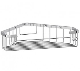 Полочка-решетка угловая 23 см (хром)