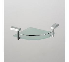 Полка угловая стекло с ограничителем 1-этажная