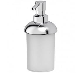 Емкость для жидкого мыла настольная (пластик; хром)