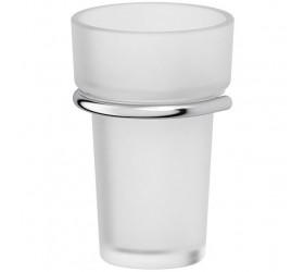 Держатель со стаканом - компонент (матовый хрусталь; хром)