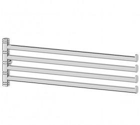 Держатель для полотенец поворотный четверной 35 см - компонент (хром)