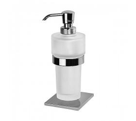Дозатор жидкого мыла стеклянный настольный
