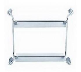 Полка прямая стекло с ограничителем 2-этажная