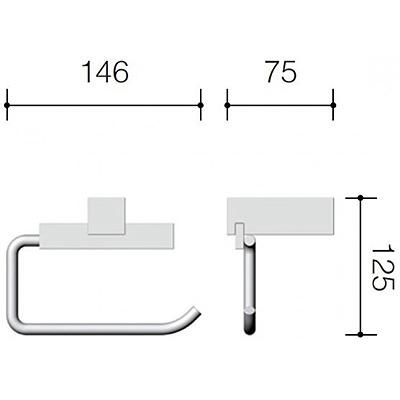 Размеры бумагодержателя Schein D266-3